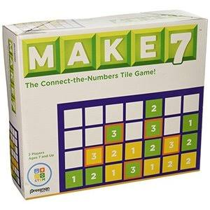 Pressman Toy Make 7 The Think-ahead Number Tile Game - Ages 7 and Up