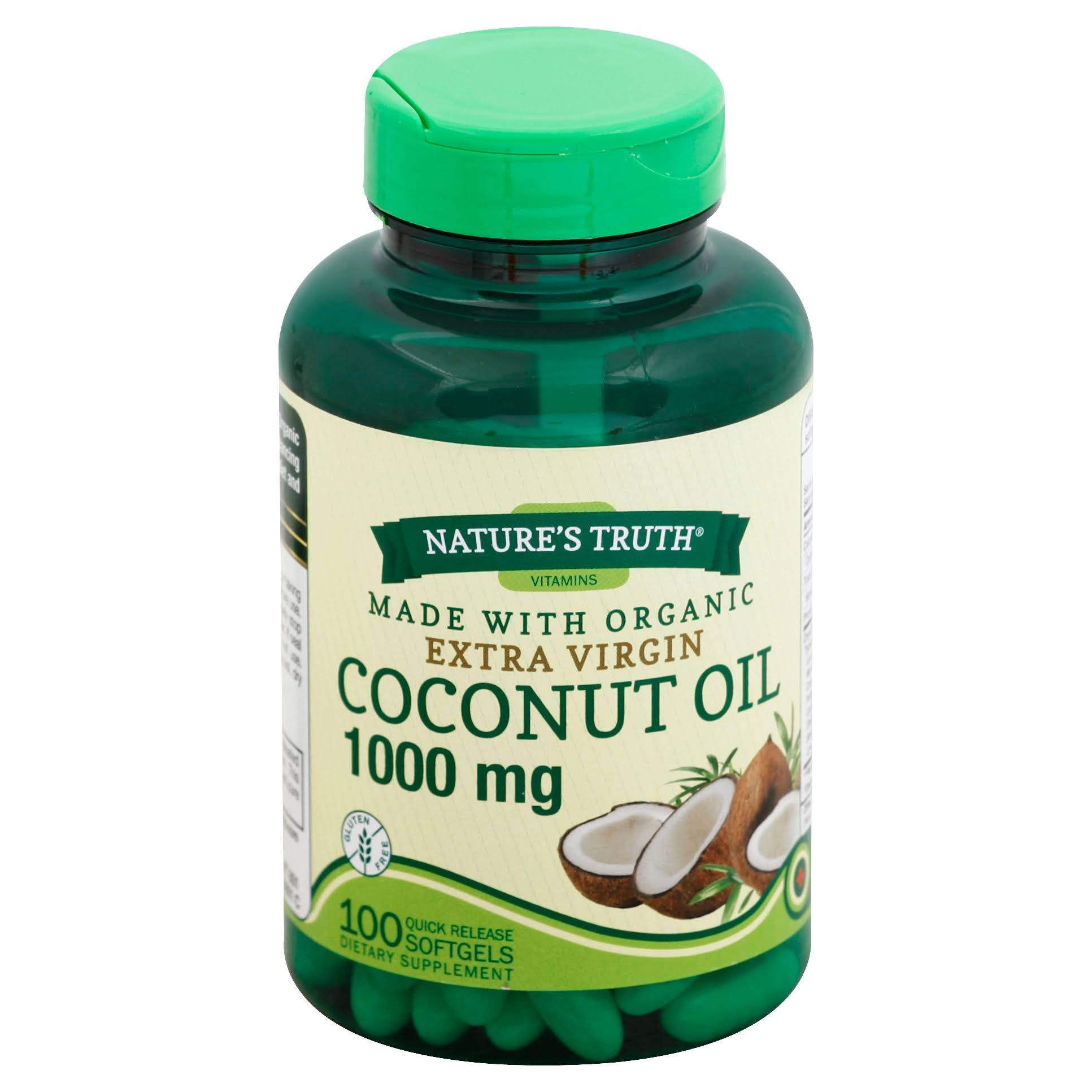 Nature's Truth Organic Extra Virgin Coconut Oil Dietary Supplement - 100 Softgels