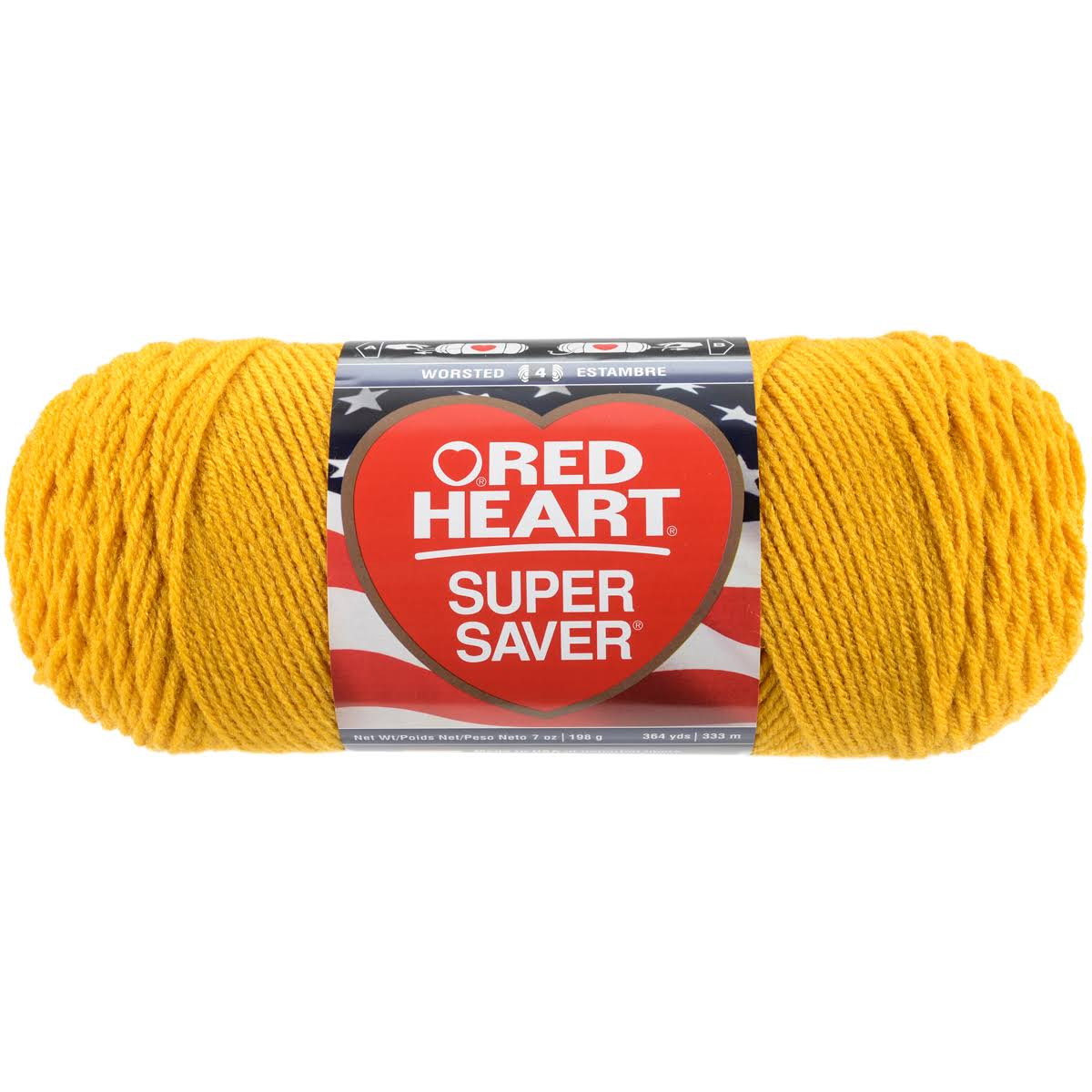 Red Heart E3000321 Super Saver Economy Yarn - Gold, 364yds