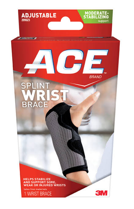 3M Ace Splint Wrist Brace - Adjustable, Reversible