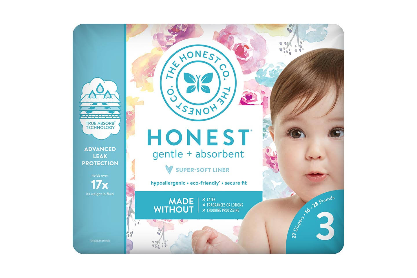 The Honest Company Diapers - Size 3, 27ct