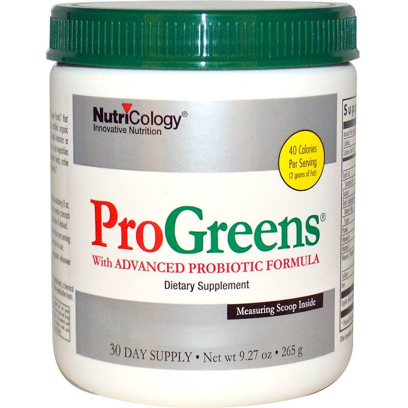NutriCology 889147 Pro Greens With Advanced Probiotic Formula Supplement - 9.27oz