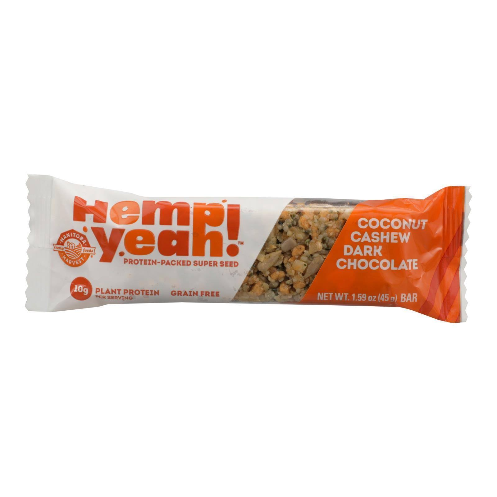 Hemp Yeah Bar, Coconut Cashew Dark Chocolate - 1.59 oz