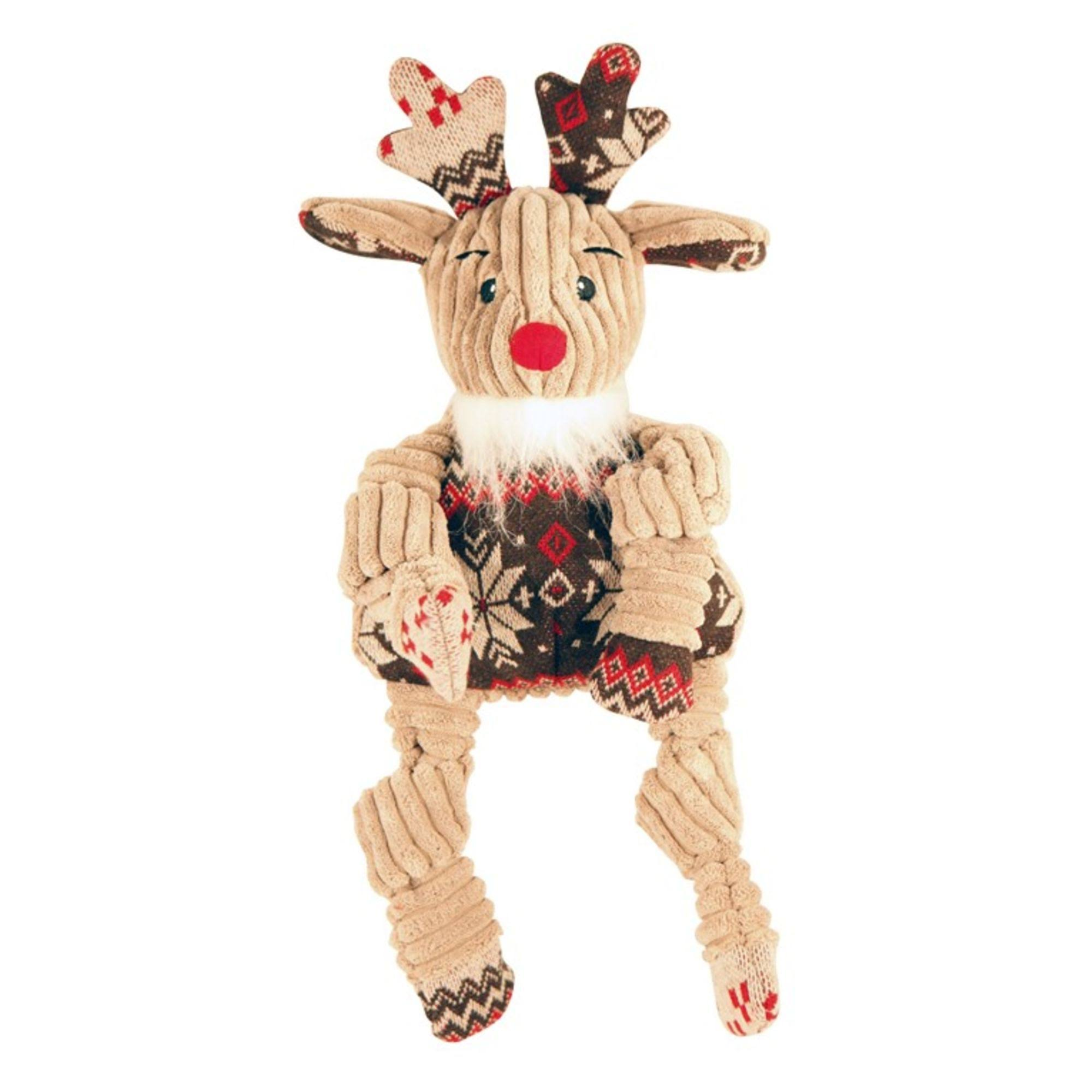 HuggleHounds Holiday Knotties Rudolph Reindeer Dog Toy
