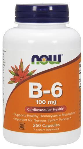 Now Foods Vitamin B-6 - 250 Capsules, 100mg
