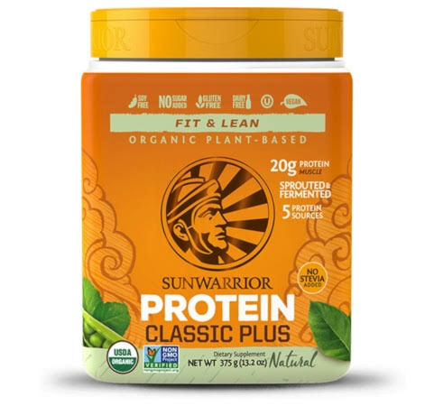 Sunwarrior Classic Plus OrganicSprouted & Fermented Plant-Based Protein - 375g