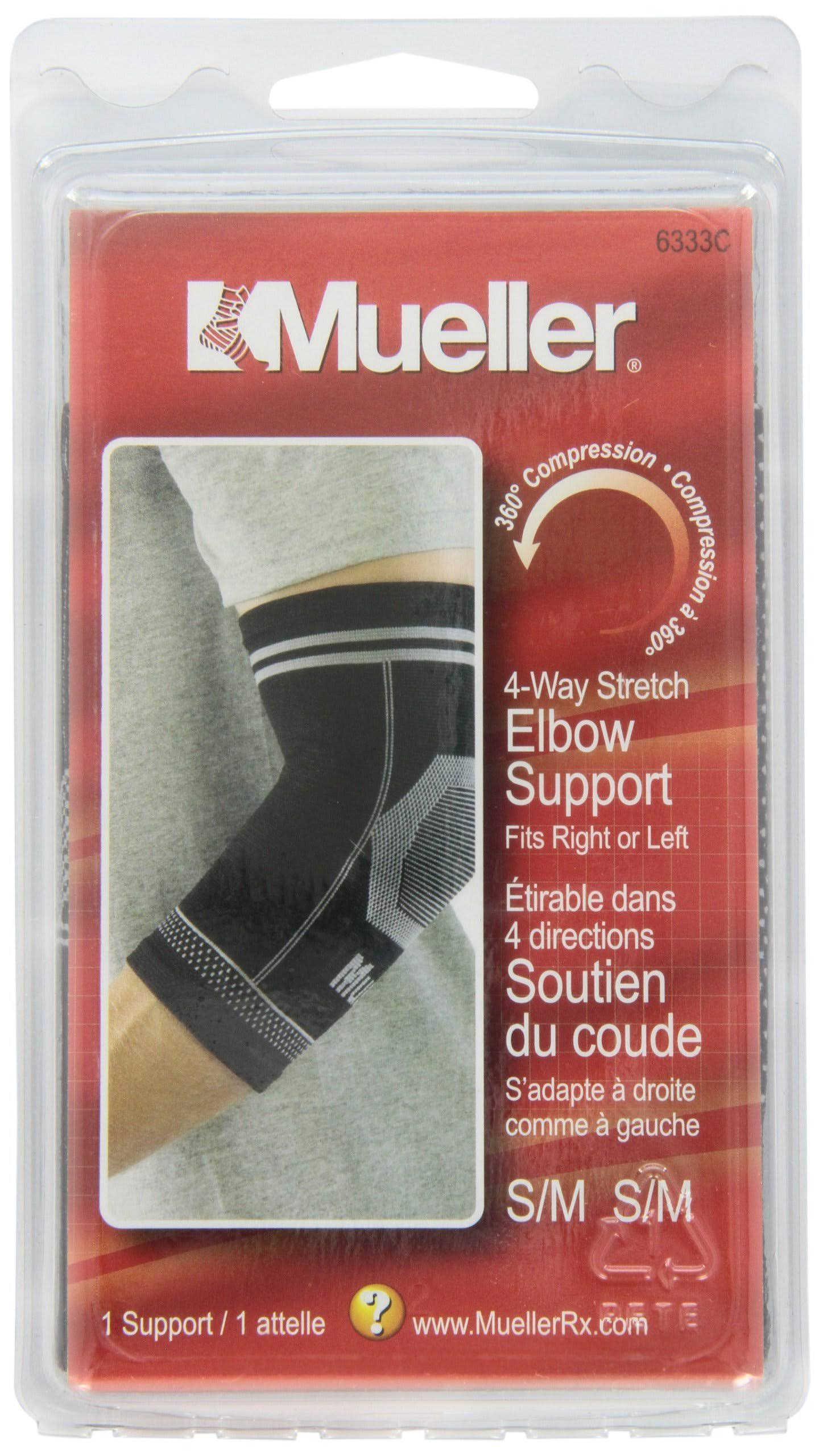 Mueller Elbow Support, 4-Way Stretch - SM/MD