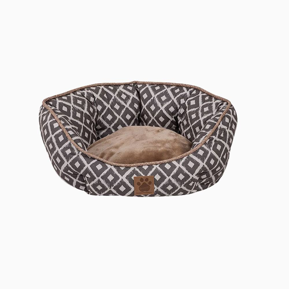 Precision Snoozzy Ikat Clamshell Pet Bed - Gray