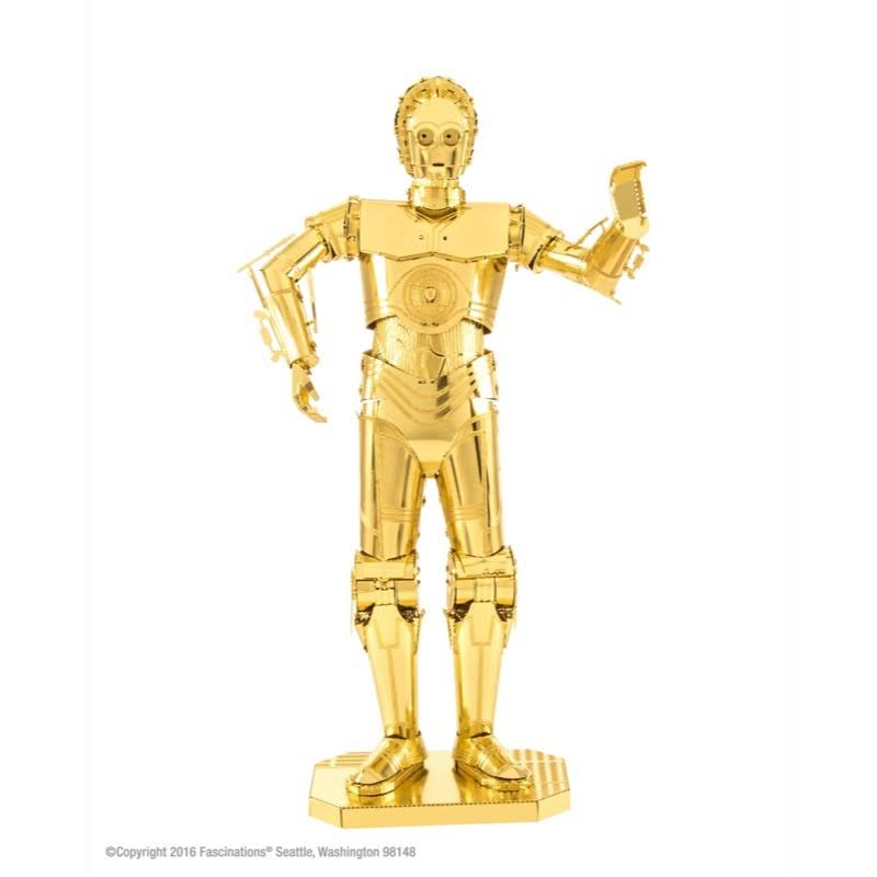 Star Wars Gold C-3PO Metal Earth Model Kit