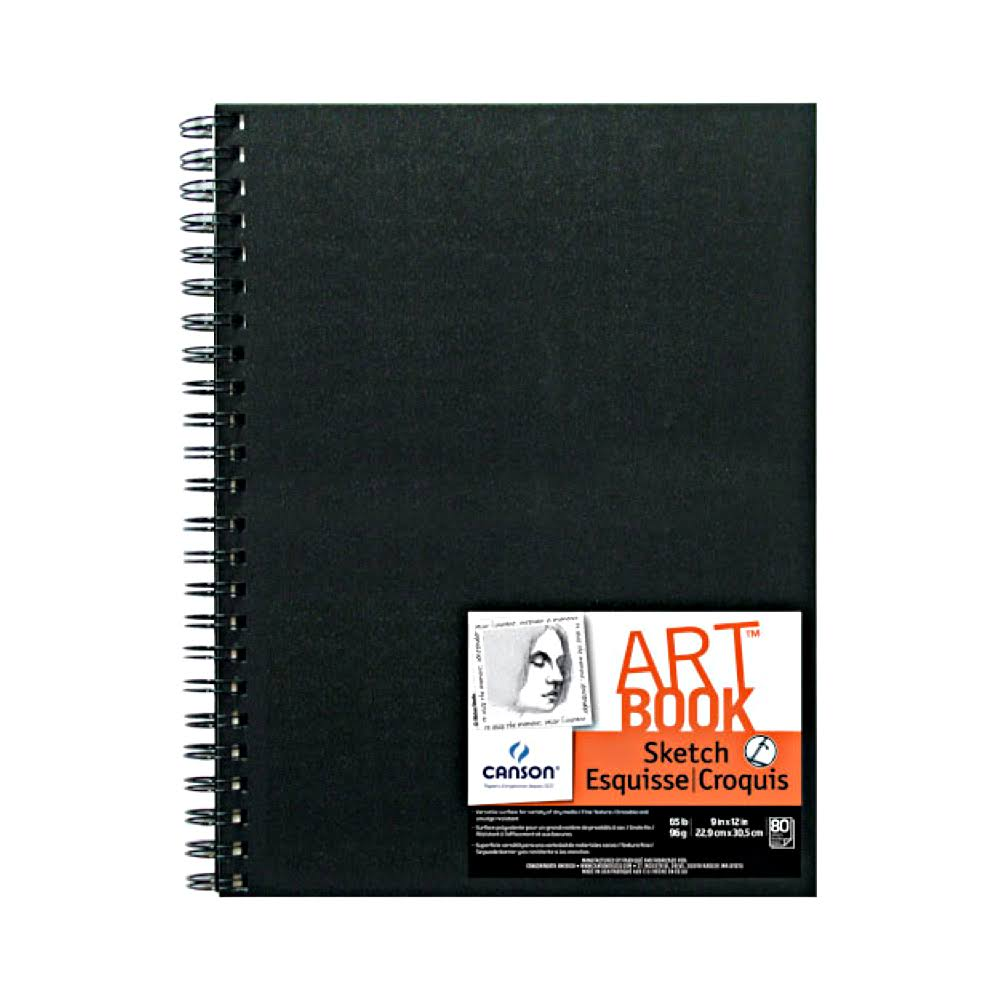 "Canson Artist Series Wire Bound Sketch Book - 160 Pages, 9""x12"""