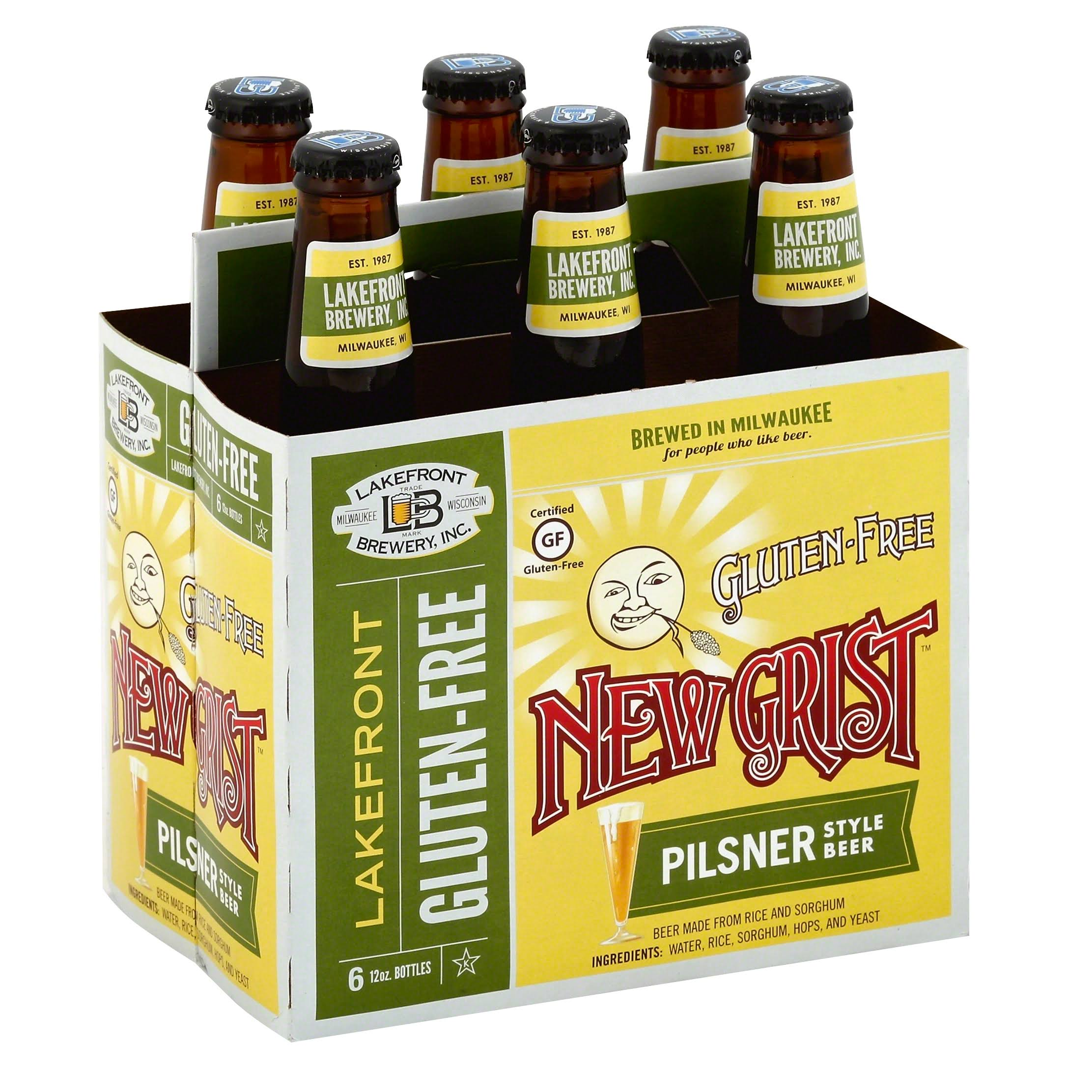 Lakefront Brewery New Grist Beer - 6 Pack