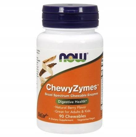 Now Foods Chewyzymes Supplement - 90 Chewables
