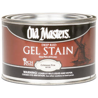 Old Masters Deep Red Gel Stain - 1 Pint, Crimson Fire