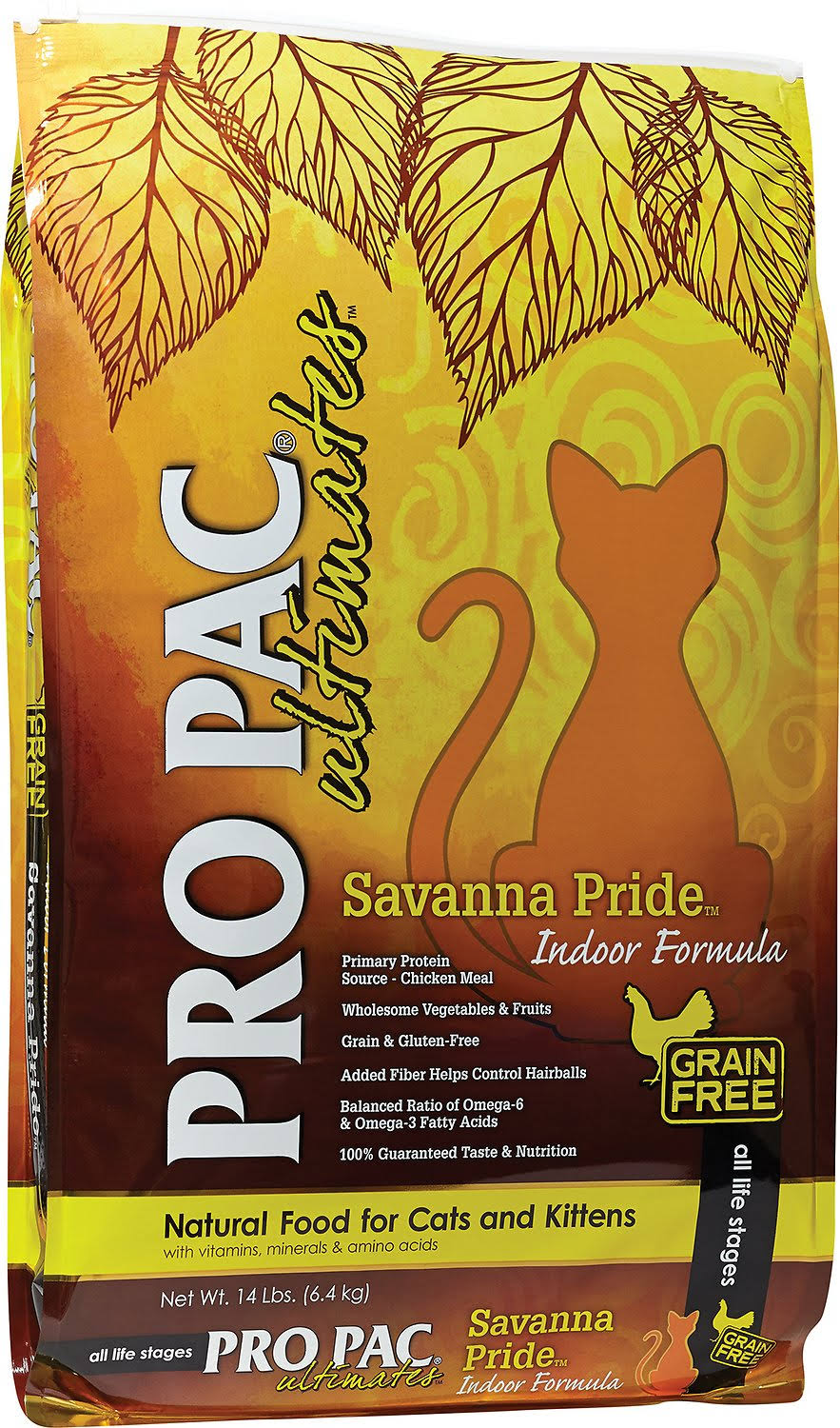 Pro Pac Ultimates Savanna Pride Indoor Cat Food - 14lbs