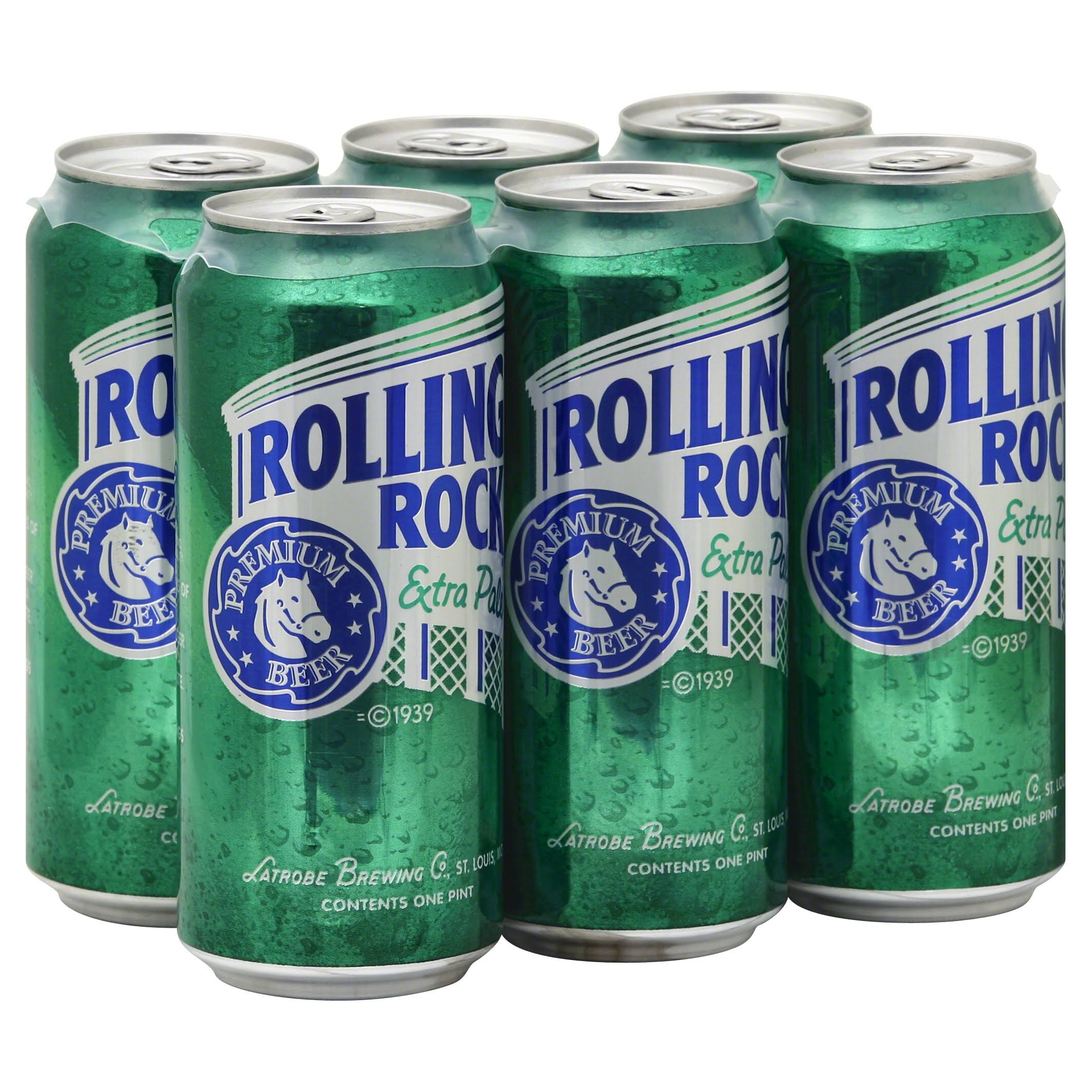 Rolling Rock Premium Beer - Extra Pale, 16oz