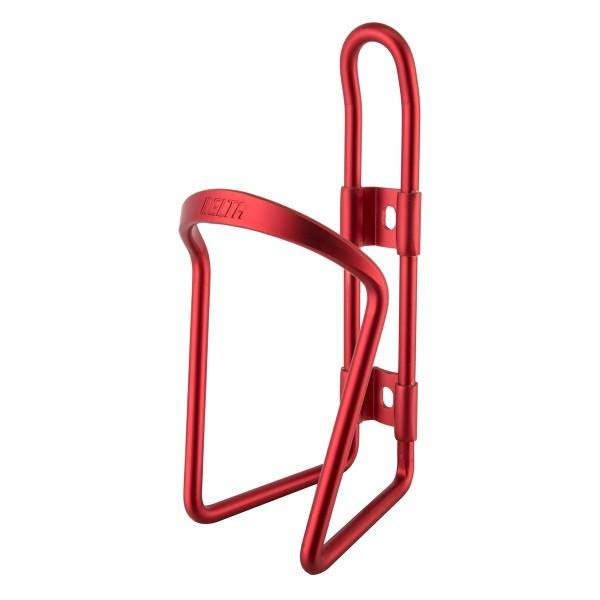 Delta Alloy Bicycle Water Bottle Cage - Anodized Red, 6mm