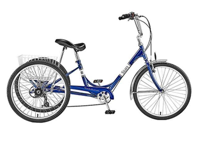 Sun Bicycles Trike Sun Adult P-BU 24 7sp Aly Wheel with WH Basket (F)
