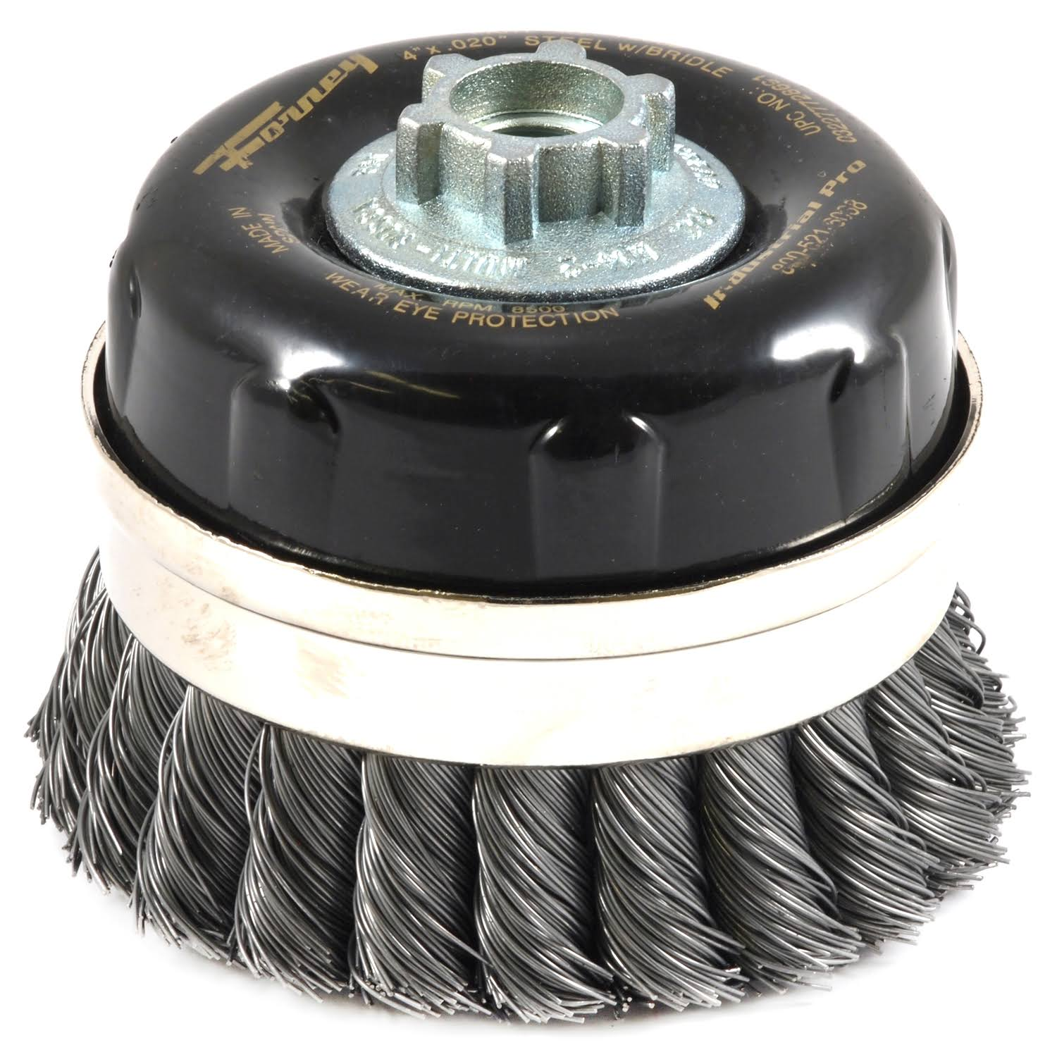 "Forney Steel Cup Brush - 4"" x 5/8"""