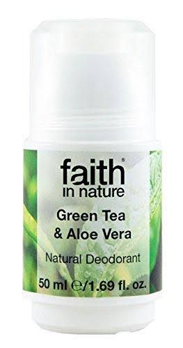 Faith in Nature Women's Natural Roll On Deodorant - Green Tea, 50ml