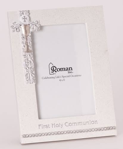 "Communion-Vertical w/Silver Scroll (8""H) Frame"