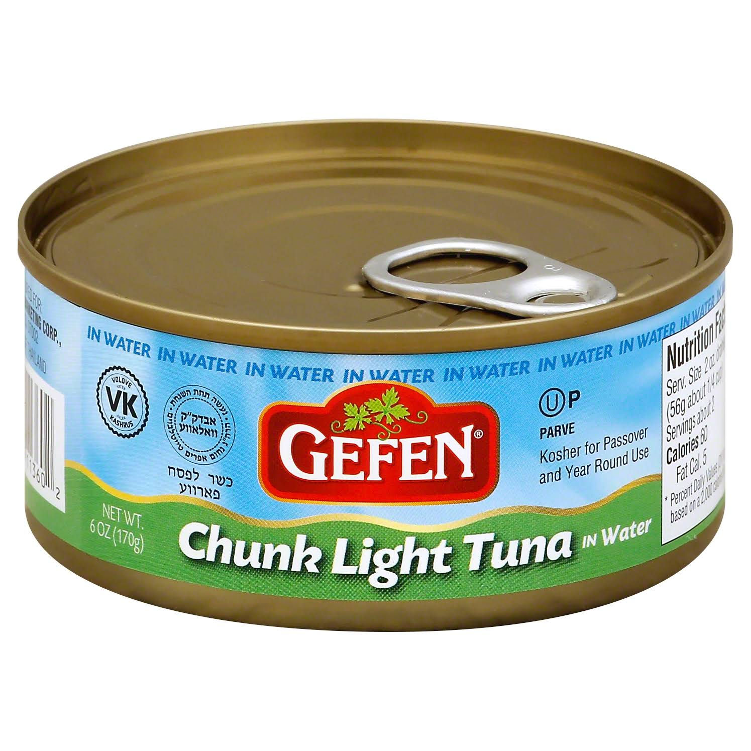 Gefen Chunk Light Tuna in Water 170g
