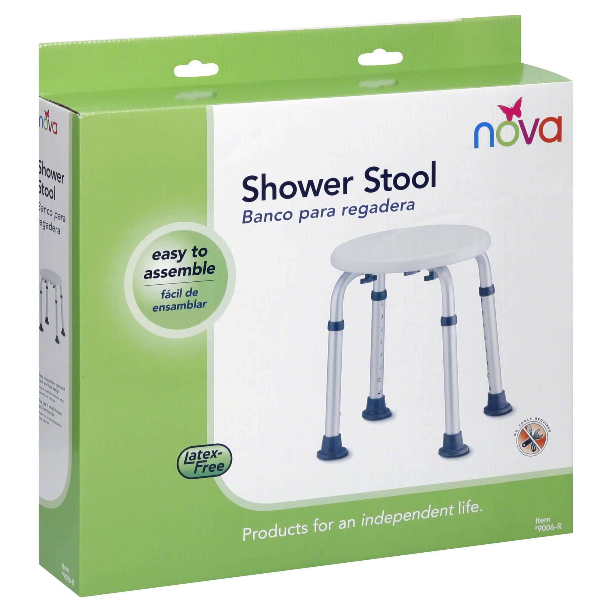 Nova Medical Products Bath Stool - Adjustable, White