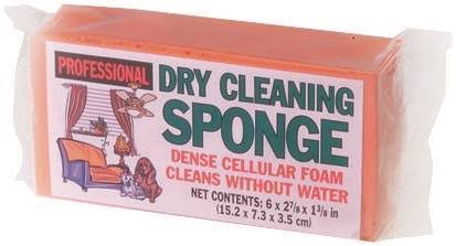 "Careware Dry Cleaning Sponge - 6"" x 2-7/8"" x 1-3/8"""