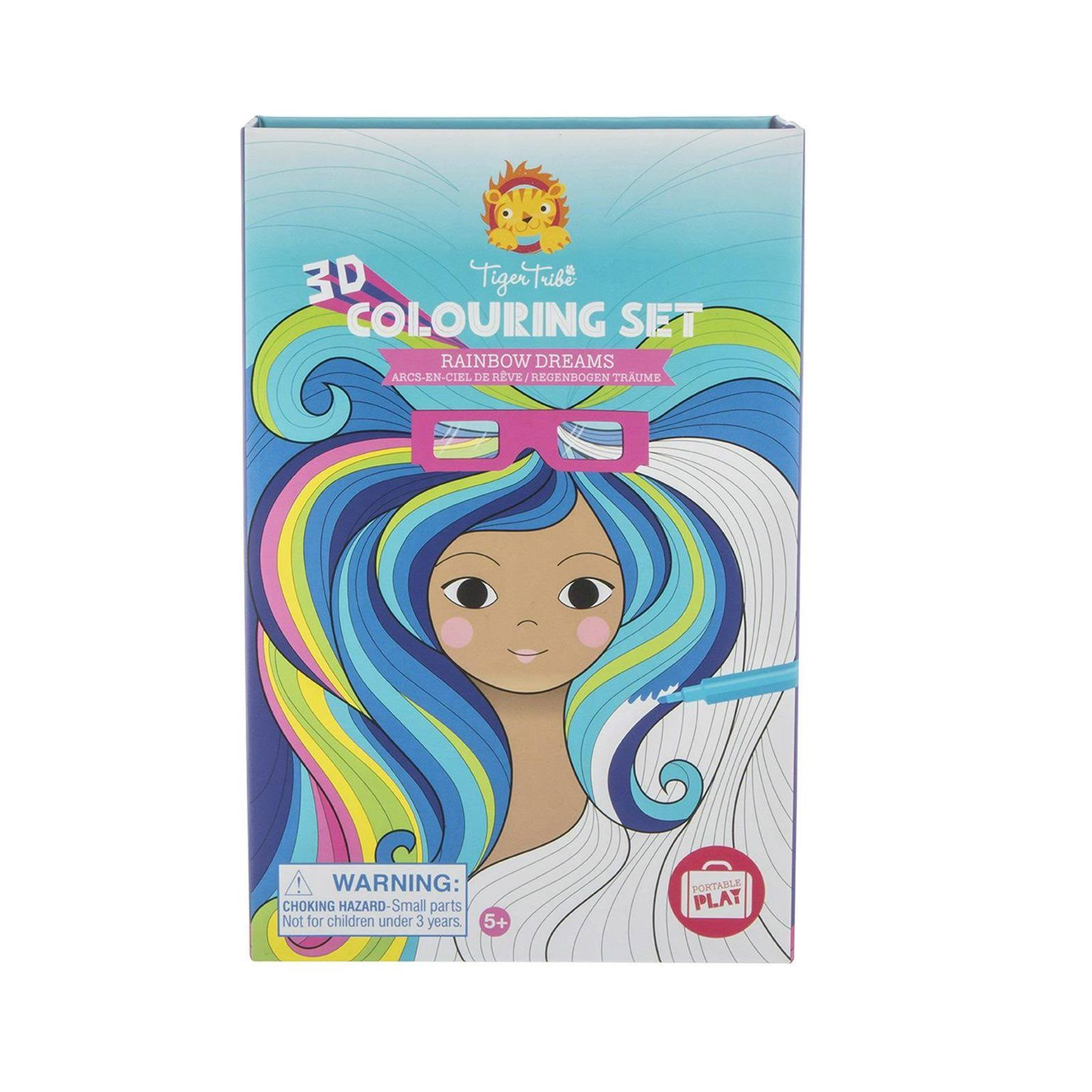 Tiger Tribe Rainbow Dreams - 3D Colouring Set