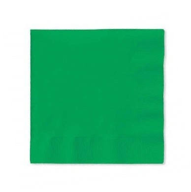 Creative Converting 3-Ply Beverage Napkins - Emerald Green, 50pcs