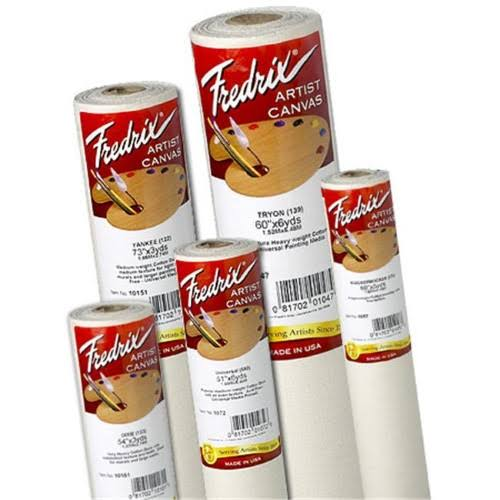 "Fredrix Dixie Canvas Roll - 54"" x 6 Yards, Acrylic Primed"