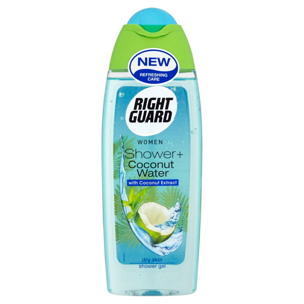 Right Guard Women Shower + Coconut Water Shower Gel - Coconut Extract, Dry Skin, 250ml