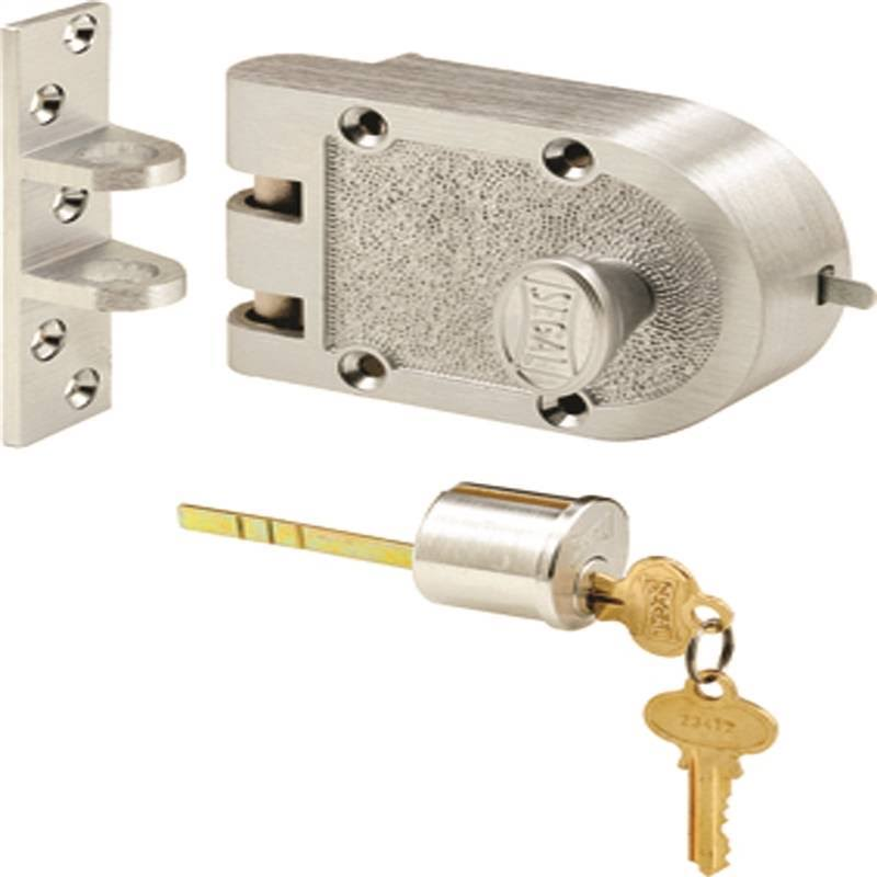 Prime-Line Products SE 15323 Segal Deadbolt - Solid Bronze Alloy, Brushed Chrome, FLAT Strike, Single Cylinder