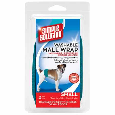 Simple Solution Washable Male Wrap Dog Diaper - Small