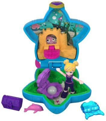Polly Pocket Tiny Places Aquarium Compact Playset