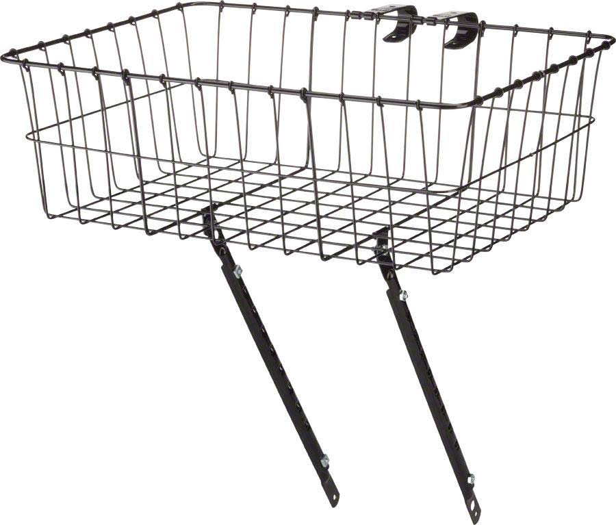 Wald Front Basket - Gloss Black, Large
