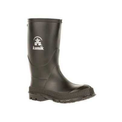 Kamik Youth Stomp Rain Boots - Black, 10 US