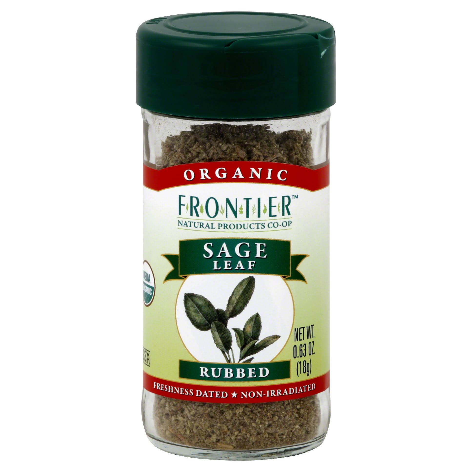 Frontier Naturals Certified Organic Sage Leaf