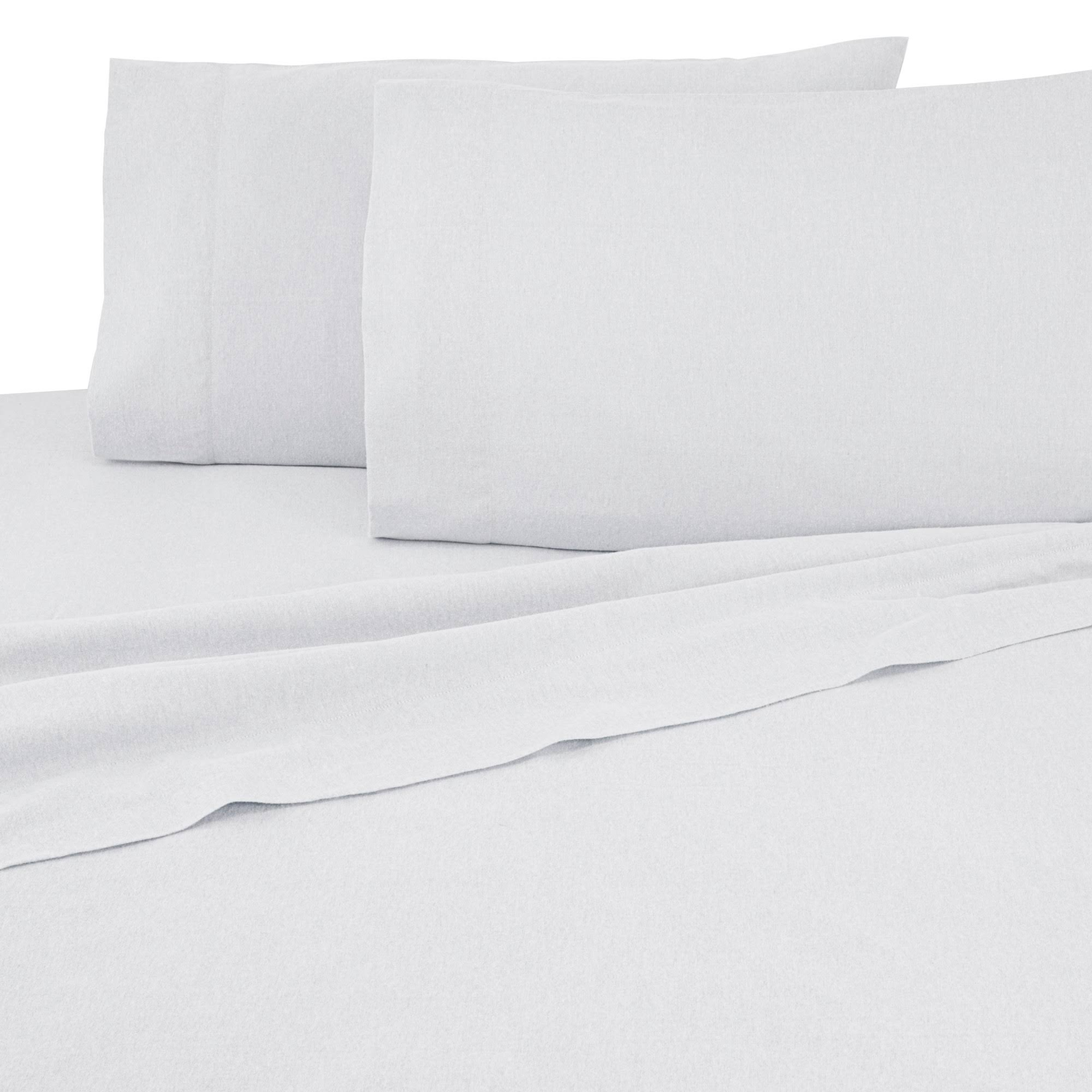 Vellux Flannel Queen Ivory Sheet Set