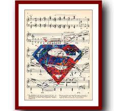 Superhero Bedroom Decor Nz by Superman Logo Poster Superheroes Watercolor Art Print 8x10