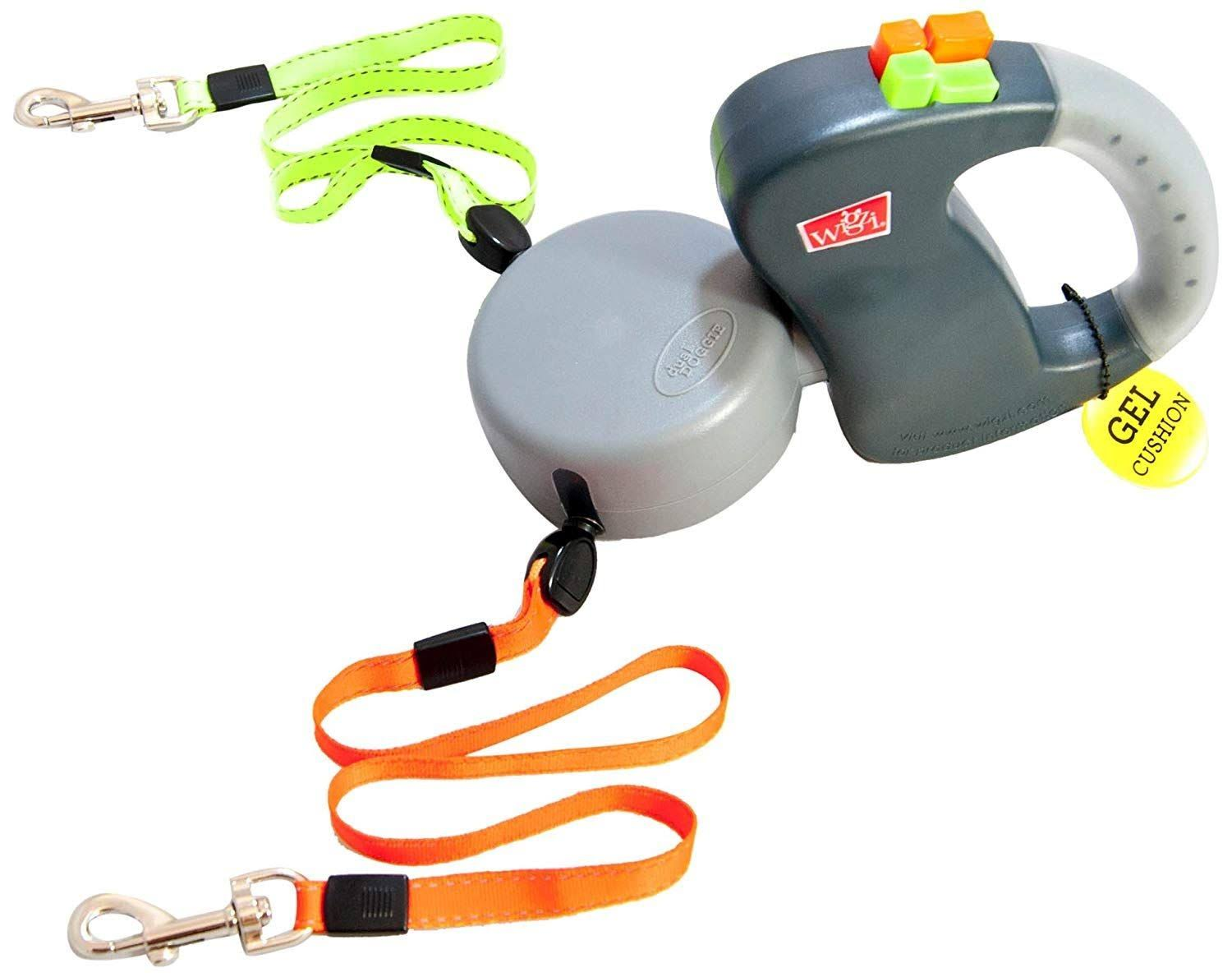 Wigzi 2 Dog Retractable Non-tangling Dog Leash - Innovative Gel Handle