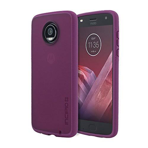 Incipio Octane Motorola Moto Z2 Play Case with Textured Bumper and Hard Shell Back for Motorola Moto Z2 Play - Raspberry