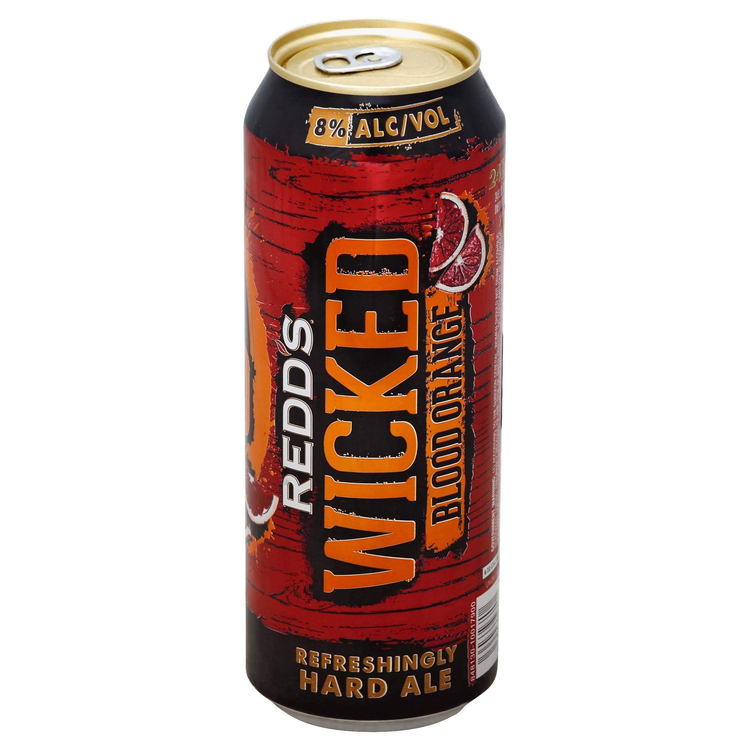 Redds Beer, Hard Ale, Wicked Blood Orange - 24 fl oz
