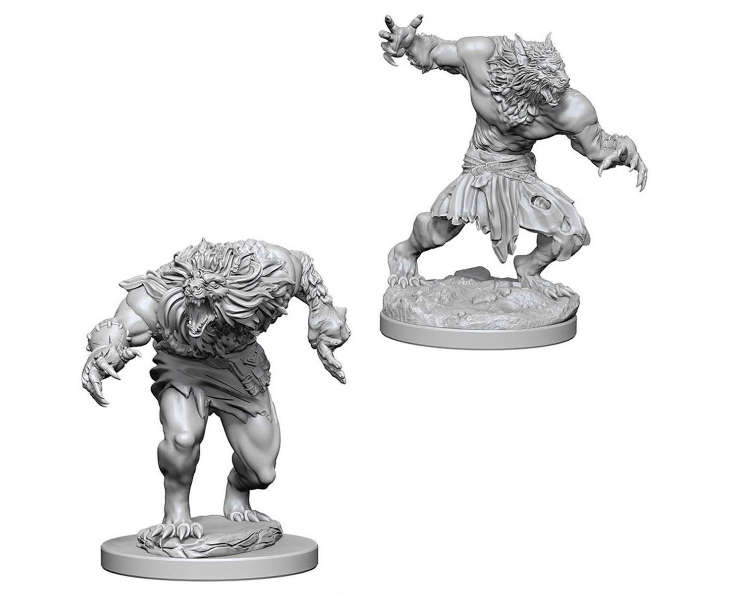 Dungeons and Dragons Nolzur's Marvelous Minis Werewolves Miniatures - Unpainted