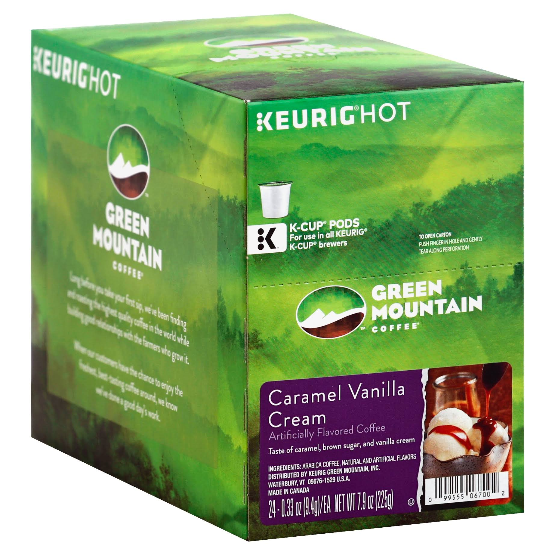 Green Mountain K Cups Coffee - Caramel Vanilla Cream, 12ct