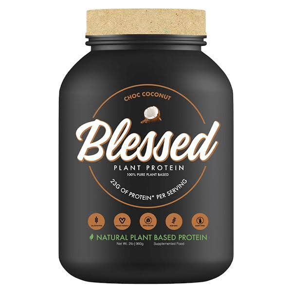 Blessed Plant Based Superfood Protein, 23g of Protein,Vegan Friendly, Chocolate Coconut, 2lb Bottle
