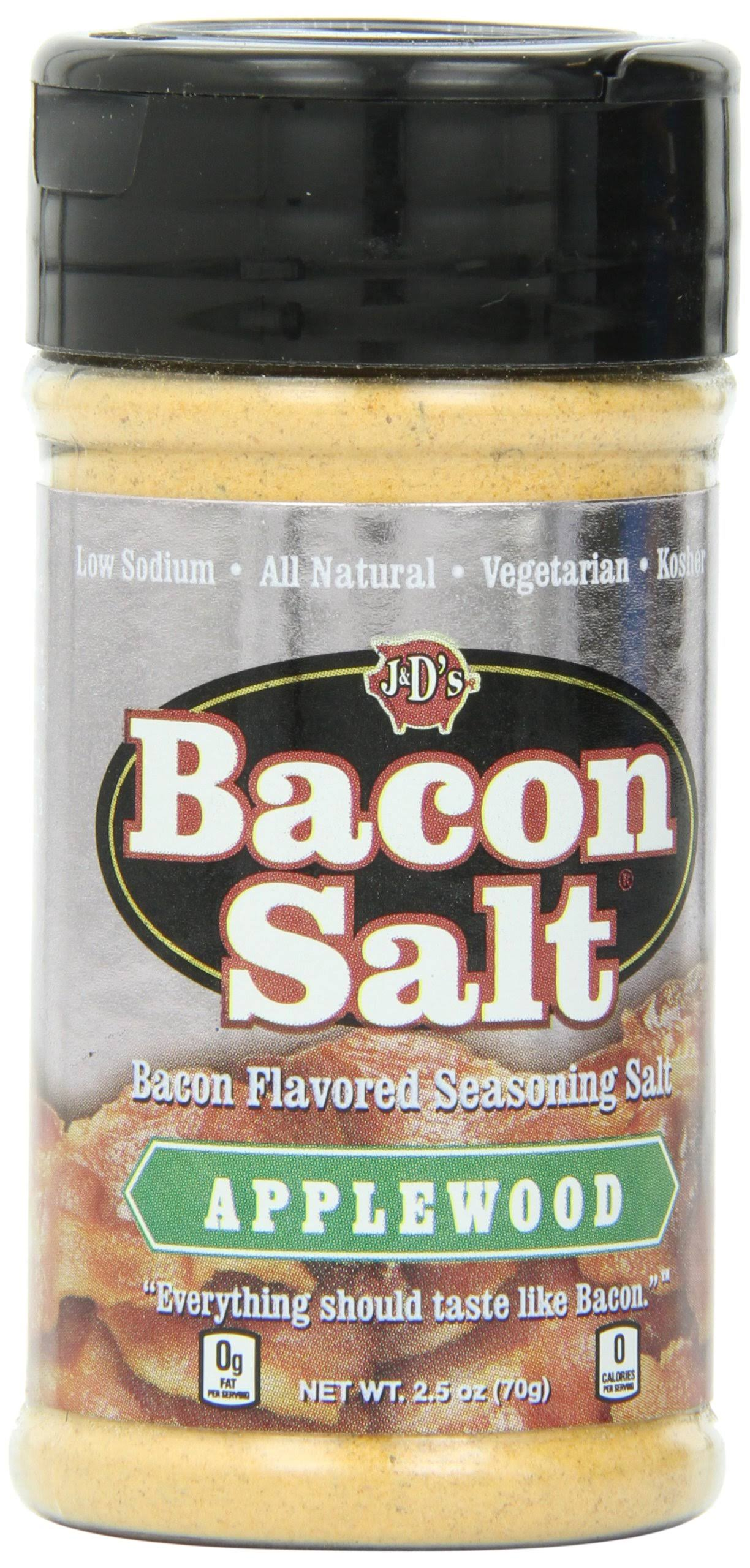 J and D's Herbs Spices and Seasonings Applewood - Bacon Salt, 2.5oz, 3pk