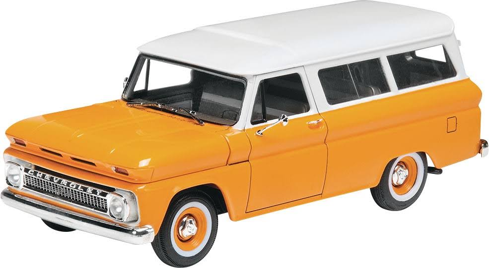 Revell '66 Chevy Suburban Plastic Model Car Kit - 1/25