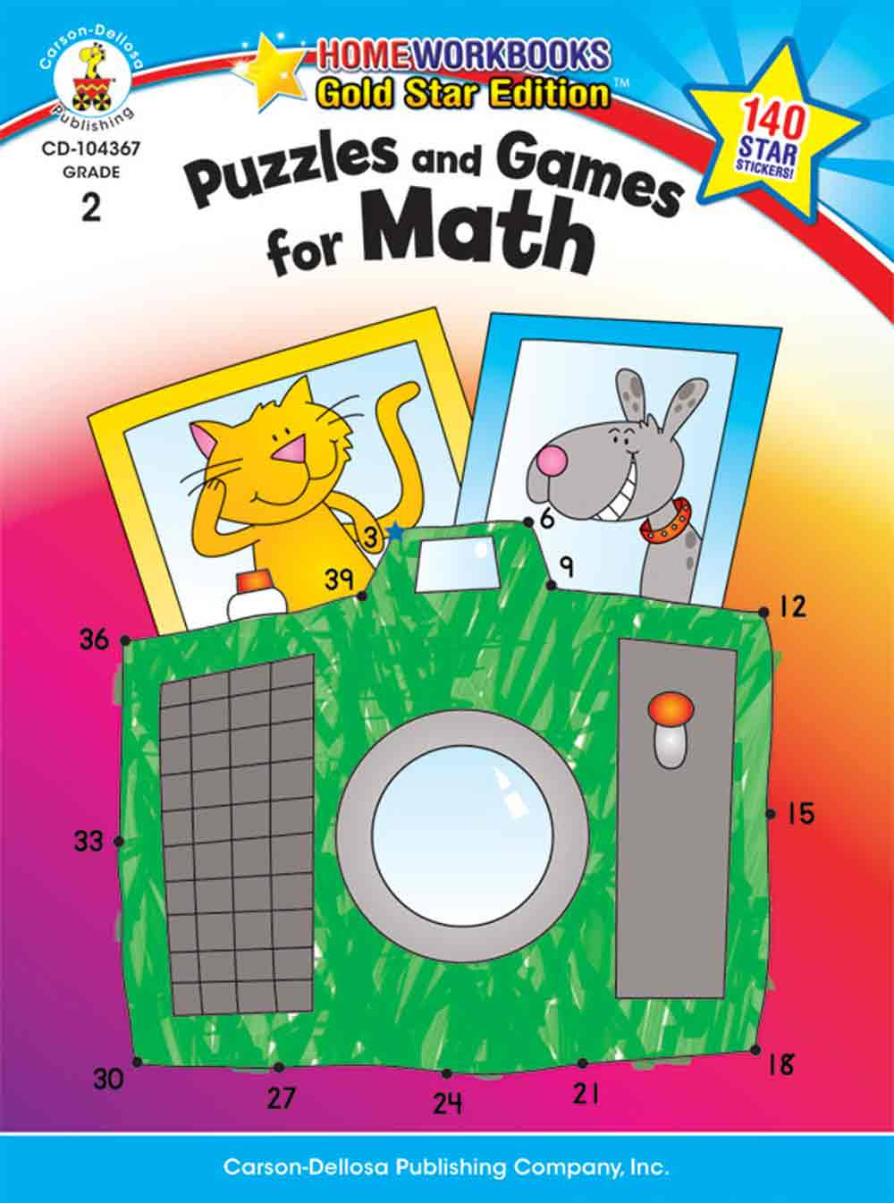 Puzzles and Games for Math: Grade 2 - Carson Dellosa Publishing