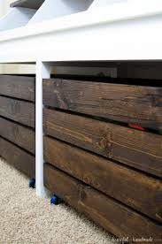 Build Wooden Toy Chest by Rustic Toy Storage Unit Build Plans A Houseful Of Handmade
