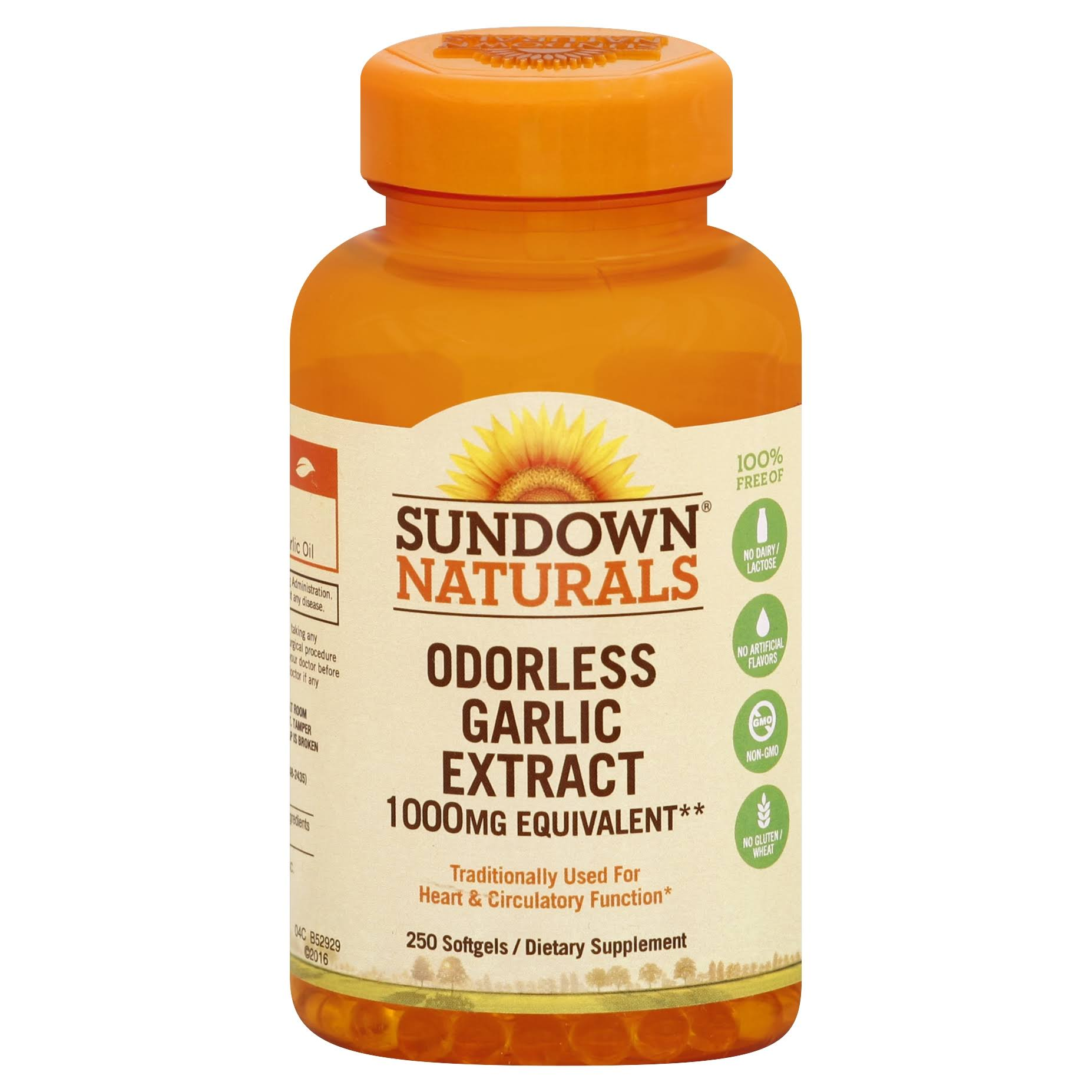 Sundown Naturals Odorless Garlic Dietary Supplement - 1000mg, 250ct